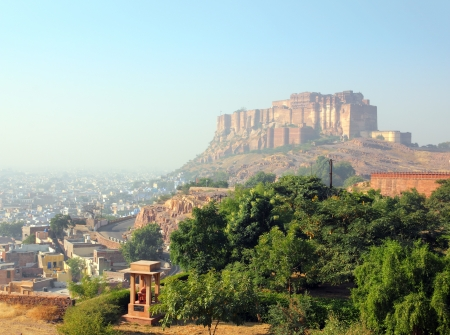 rajasthan: landscape with fort in Jodhpur India