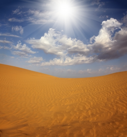 landsape: landsape in Tar desert India Stock Photo
