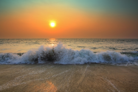 over the sea: beauty landscape with sunset over sea
