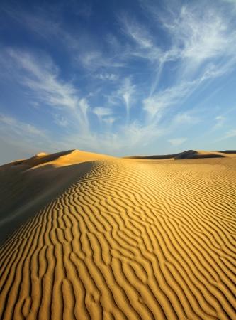 beatiful evening landscape in desert Stock Photo - 17721655
