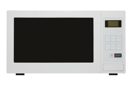 white microwave oven isolated on white photo