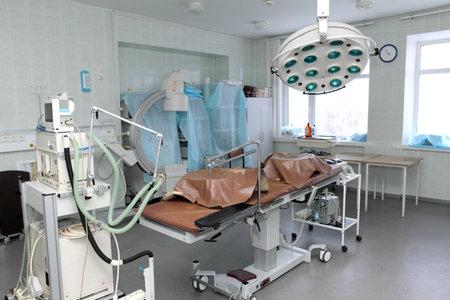 interior of empty operating room 에디토리얼