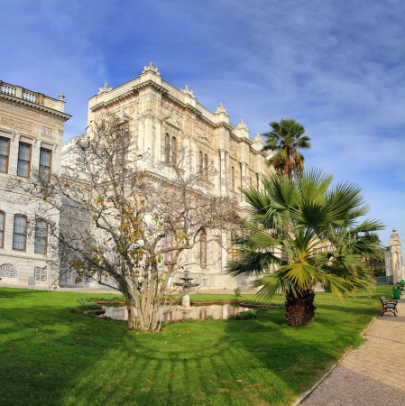 dolmabahce palace at winter - istanbul turkey photo