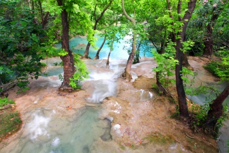waterfall in forest - Kurshunlu Turkey  photo