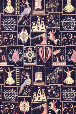 Kunstvollen dekorativen türkischen Teppich Ornament Standard-Bild - 20185114