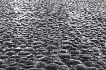 dark gray cobblestone road background photo