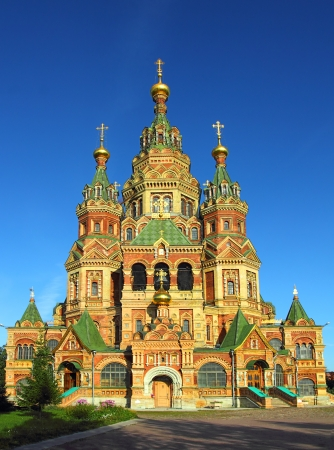church bells: Church of Holy Apostles Peter and Paul in Peterhof Saint-Petersburg Russia