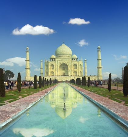 Taj Mahal - famous mausoleum in Agra India photo