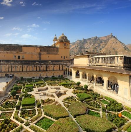 garden in amber fort - Jaipur India photo