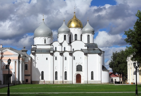 Saint Sophia Cathedral in Veliky Novgorod - Russia photo