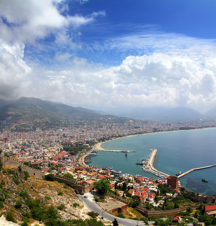 Alanya Turkey landscape - view from fortress Stock Photo