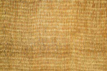 straw mat: natural wicker mat textured background Stock Photo