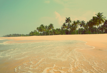 beautiful beach landscape in India - vintage retro style photo