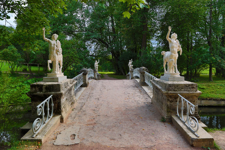 centaurs bridge in Pavlovsk park St. Petersburg Russia photo
