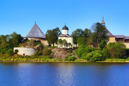 marquees: Staraya Ladoga fortress. Church of St. George and marquees turrets. Russia.