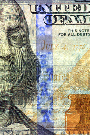 redesign: Watermark on redesigned new hundred dollar bill
