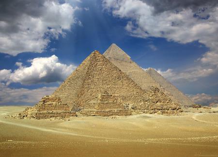 pyramid egypt: Great pyramids at Giza Cairo in Egypt