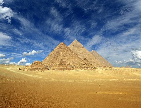 egyptian pyramids: Great pyramids at Giza Cairo in Egypt