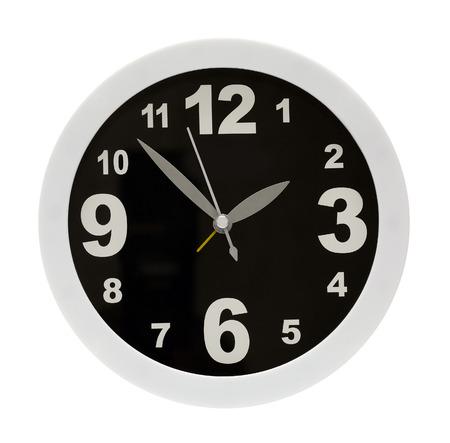 modern alarm clock isolated on white photo