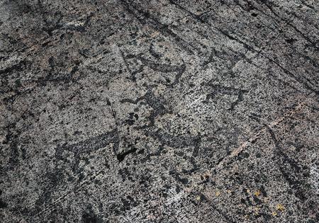 mesolithic: Rock paintings - petroglyphs of Zalavruga in Karelia