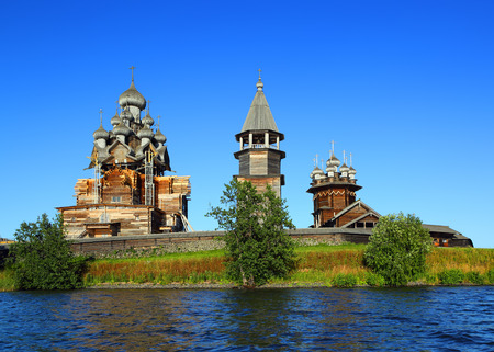 kizhi: old russian wooden architecture on Kizhi island in Karelia