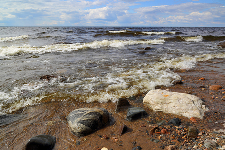 onega: Shore of Onega lake in Karelia, Russia