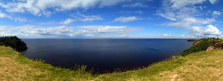 onega: Panorama landscape of Onega lake in Karelia, Russia