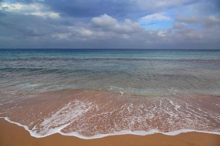 moody sky: dramatic sea landscape with moody sky