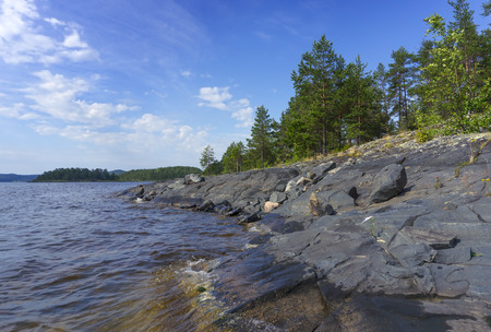 ladoga: beautiful landscape on Ladoga lake in Karelia