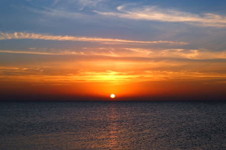 over the sea: beauty landscape with sunrise over sea
