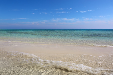 spit: white sand spit - tropical beach Stock Photo
