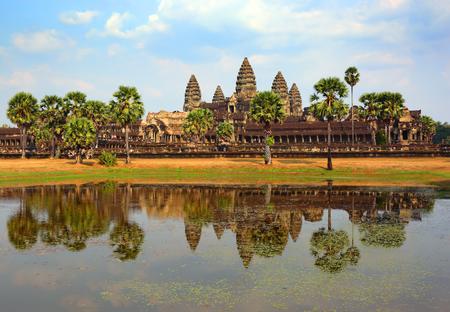reap: Angkor Wat temple in Siem Reap, Cambodia Stock Photo
