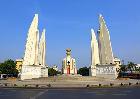 monument historical monument: The Democracy Monument - historical of constitution monument in Bangkok, Thailand.