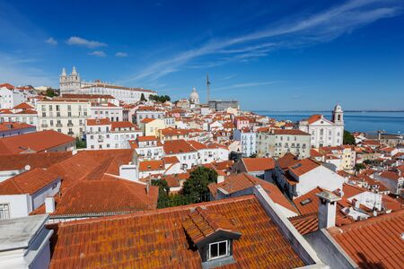 Historic old district Alfama in Lisbon 免版税图像