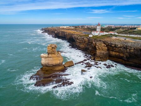 Lighthouse on Cabo Carvoeiro in Portugal