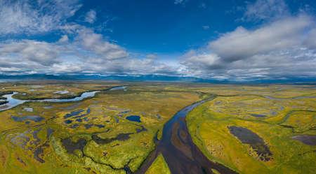 Avacha river delta on Kamchatka