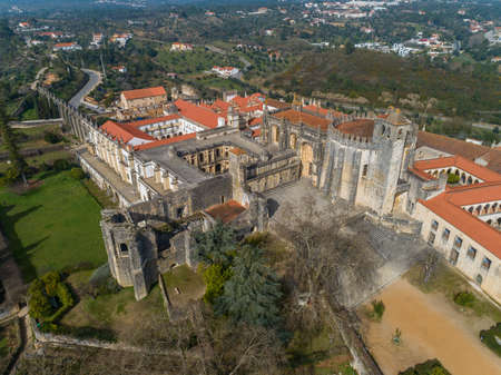 Aerial view of monastery Convent of Christ in Tomar, Portugal Reklamní fotografie