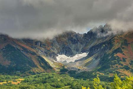 Vachkazhets volcano on Kamchatka Reklamní fotografie