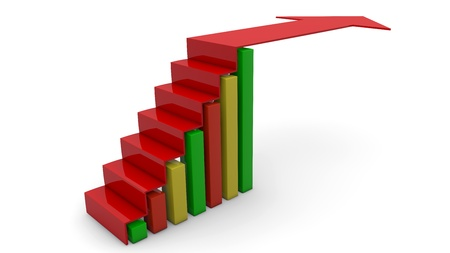 Arrow graph going up Stock Photo - 15857411