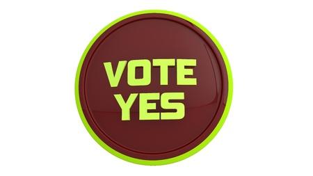 Vote yes Banco de Imagens