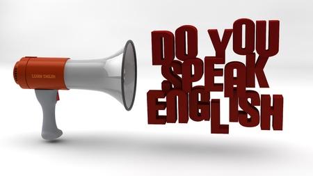Do you speak english Stock Photo - 17119597