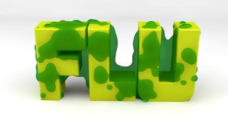 disease patients: Flu Stock Photo