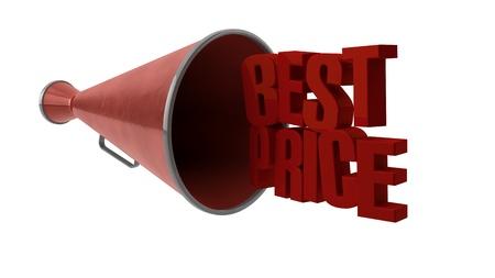 rebates: Speaker best price Stock Photo