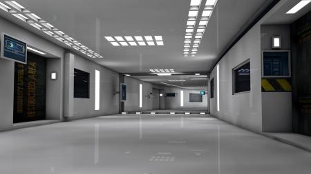 inner cylinder: Futuristic room