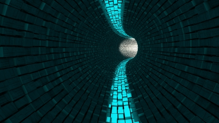 inner cylinder: Abstract tunnel