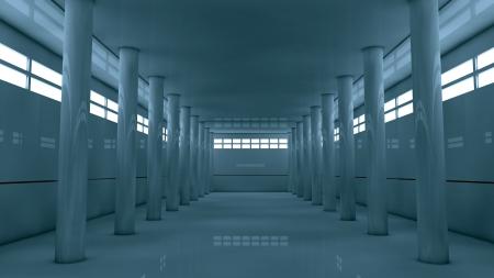 inner cylinder: Futuristic storage