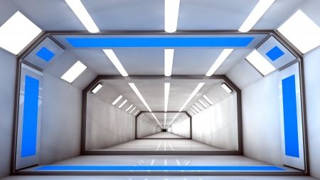 Futuristic corridor photo