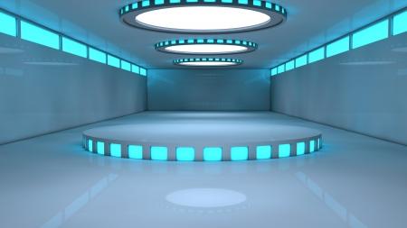 inner cylinder: Futuristic set