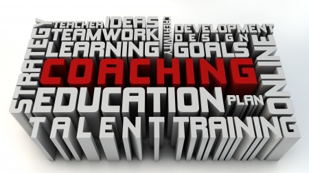 education goals: Coaching and learning concepts Stock Photo