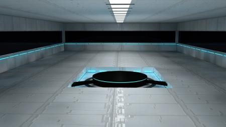 Scifi design interior Stock Photo - 17806010
